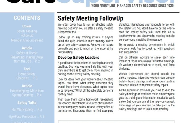 March 2020 SafeSupervisor Newsletter