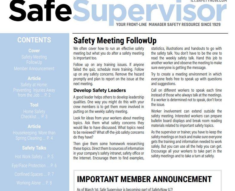 March 2020 SafeSupervisor Newsletter