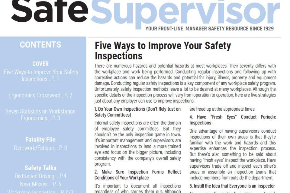 April 2021 SafeSupervisor Newsletter